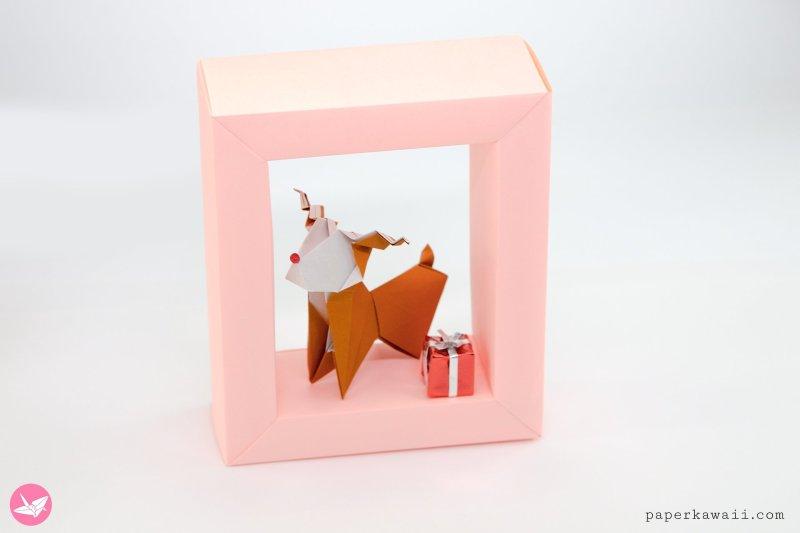 Origami Reindeer Tutorial - Make A  Paper Rudolf via @paper_kawaii