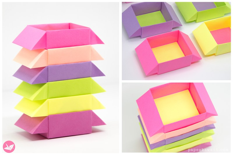 Origami Stacking Spice Boxes Tutorial via @paper_kawaii