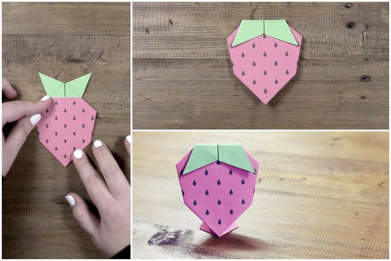 Strawberry via @paper_kawaii