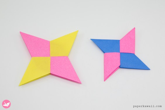 Origami Symmetrical Shuriken Star Tutorial