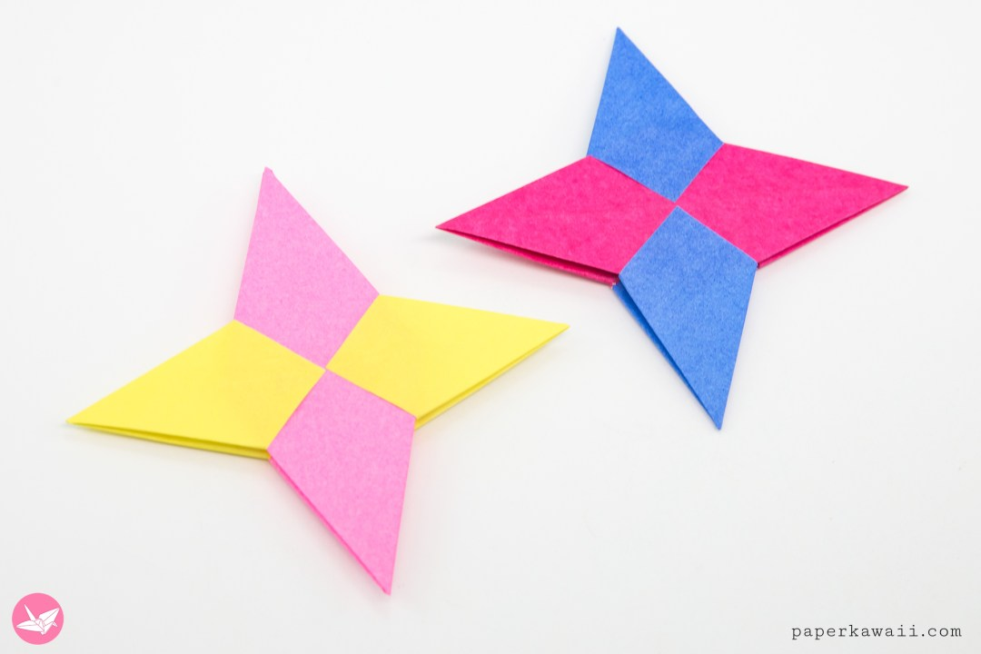 Origami Symmetrical Shuriken Star Tutorial via @paper_kawaii