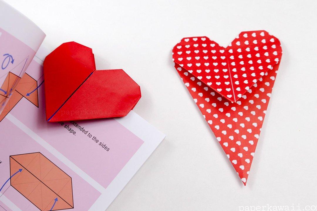 Heart Bookmark via @paper_kawaii
