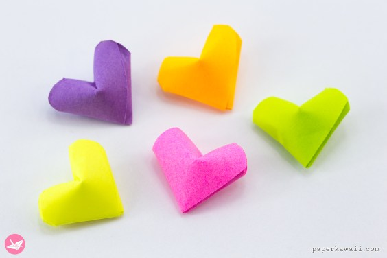 Mini Origami Lucky Hearts Tutorial