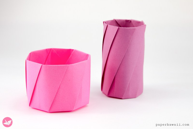 Round Origami Pots Tutorial via @paper_kawaii
