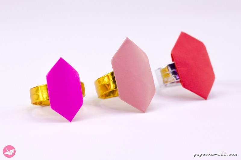 Origami Ring Tutorial - Hexagonal Jewel via @paper_kawaii