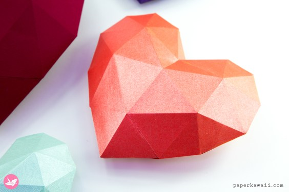 27 Pretty Picture of Origami 3d Tutorial | Paper hearts origami, Origami  heart instructions, Valentines origami | 376x564