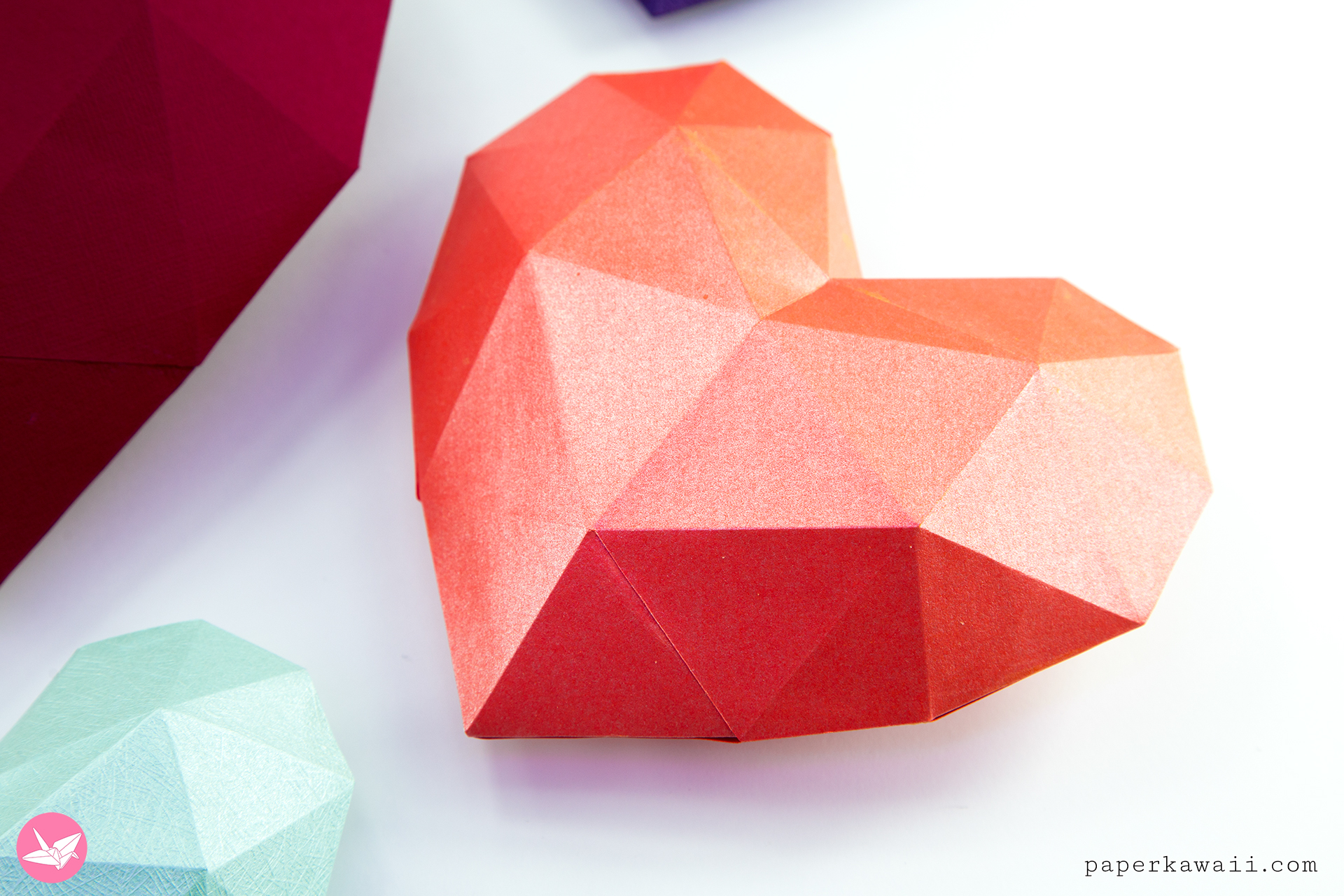 Origami Opening Heart Box / Envelope Tutorial - Design: Francis Ow ... | 1280x1920