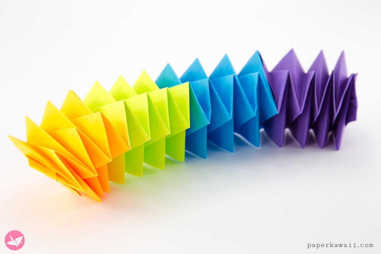 Magic Origami Spring Toy Tutorial -  Salman Ebrahimi via @paper_kawaii