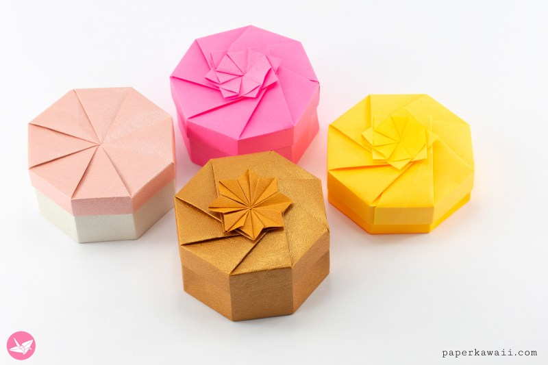 Origami Octagonal Box Tutorial - DIY - Paper Kawaii - YouTube | 533x800