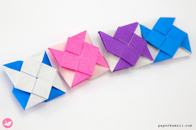 2 Sided Origami Pinwheel Tutorial via @paper_kawaii