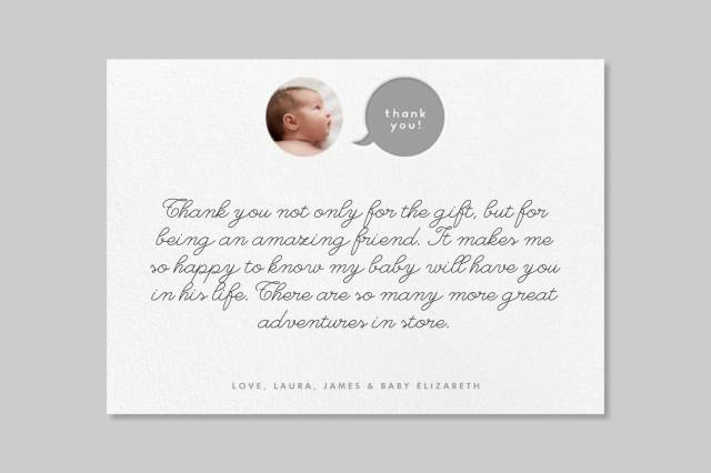 Baby Shower Thank You Wording - Paperless Post