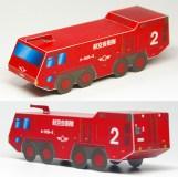Papercraft imprimible y armable de un Camión de bomberos A-MB-3. Manualidades a Raudales.
