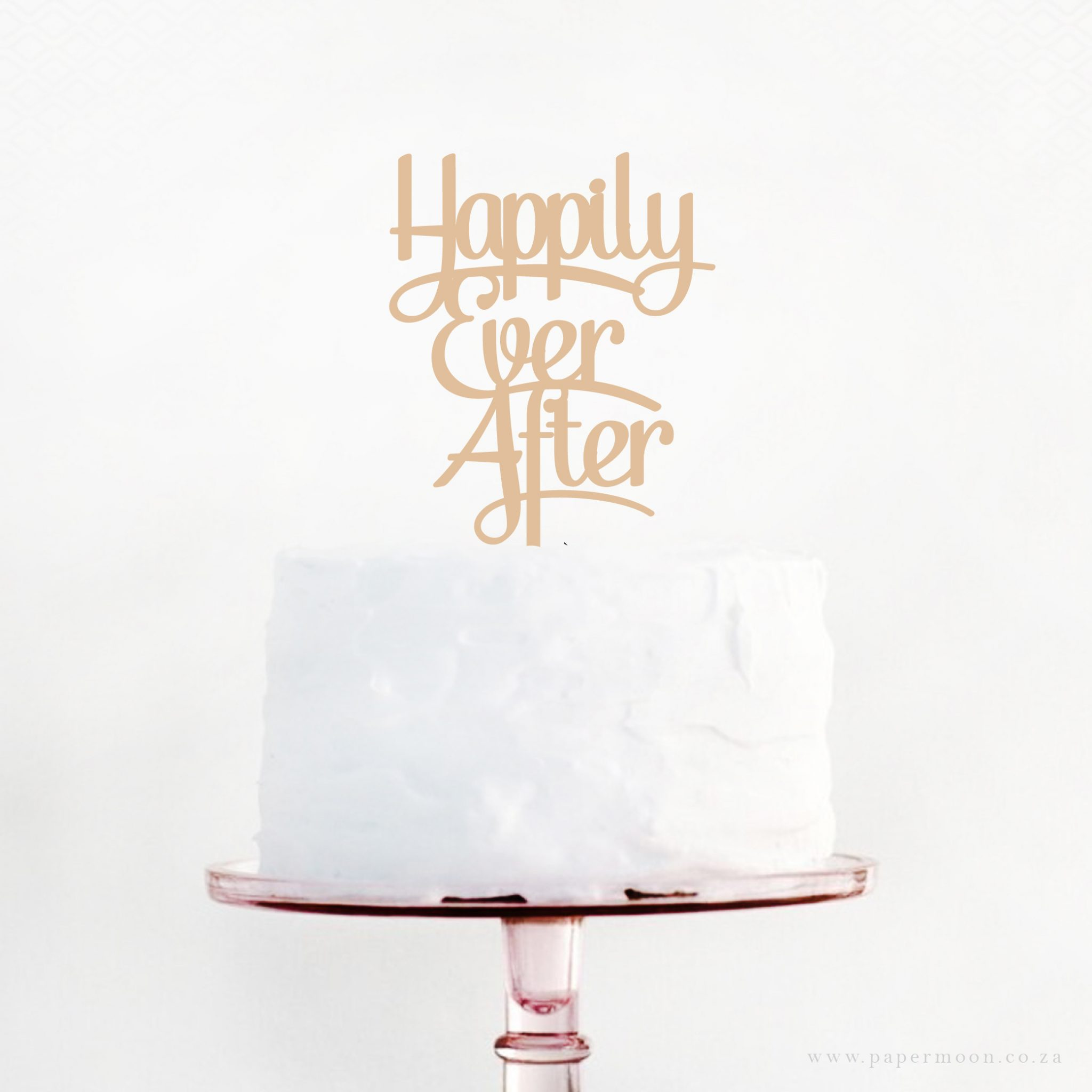 Happily Ever After Cake Topper Papermoon