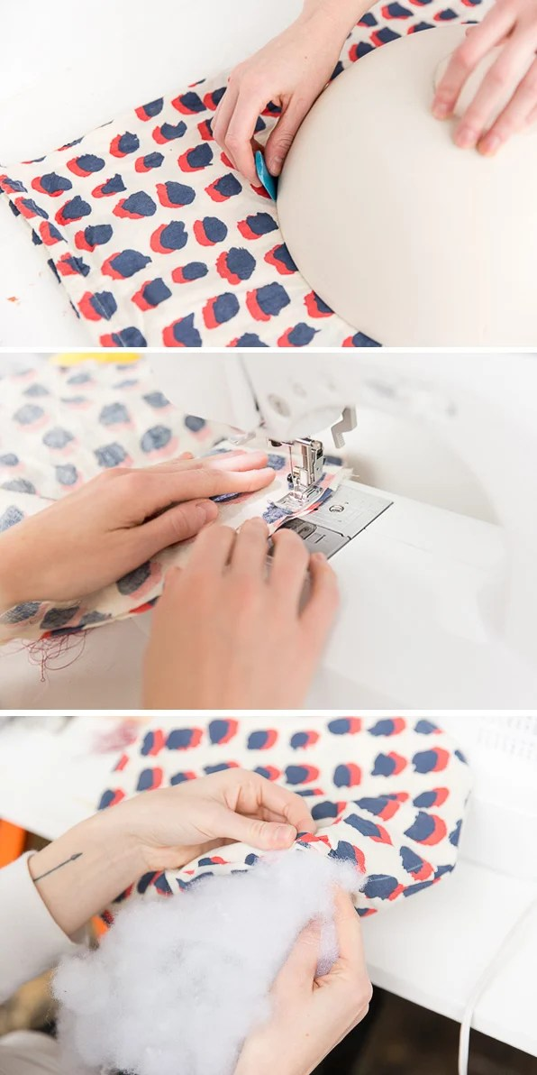 how to make a diy circle pillow for you