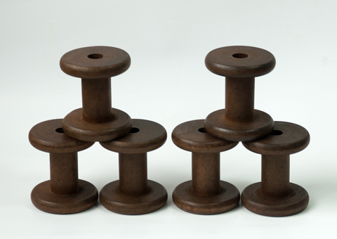 New Stained Wooden Bobbins Not Only For Paper Twine