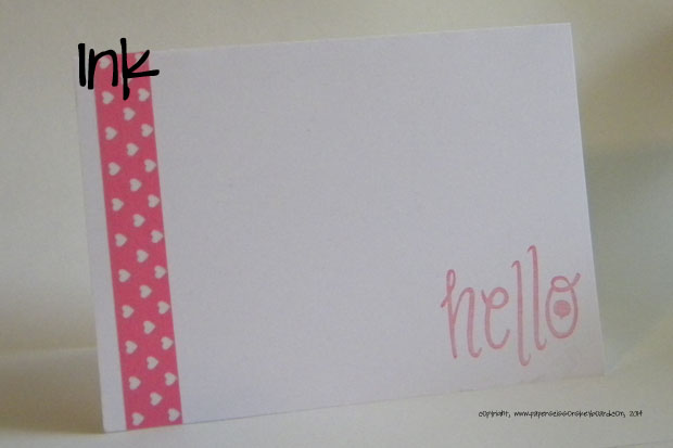 washi+sweet stamp=card I want to mail right now!