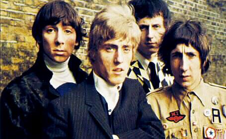 Gli Who, da sinistra a destra: Keith Moon, Roger Daltrey, John Entwistle,  Pete Townshend