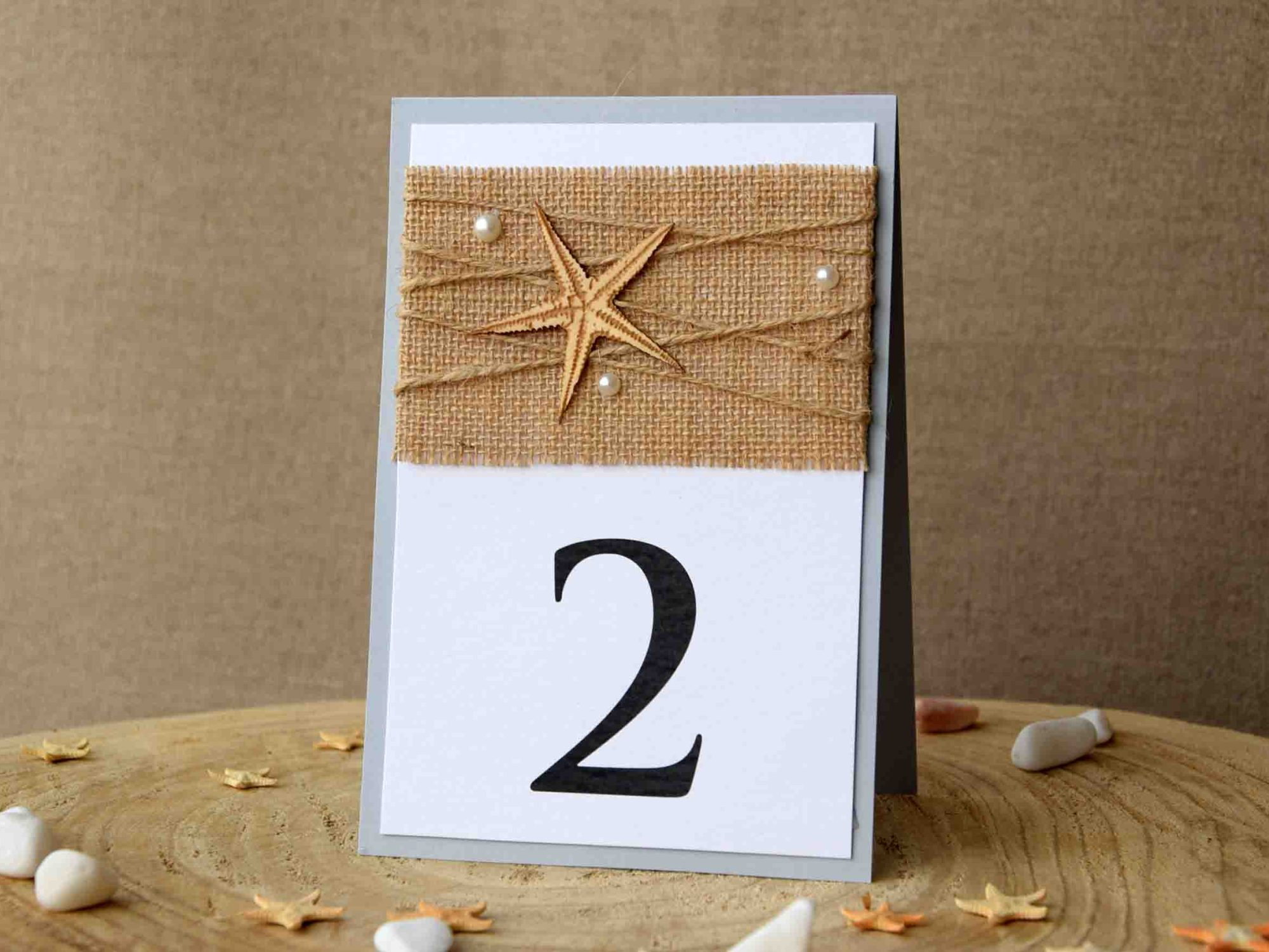 Starfish Beach Table Numbers