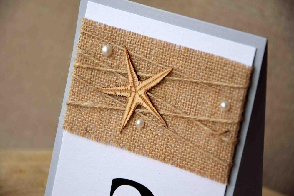 Starfish Beach Table Numbers