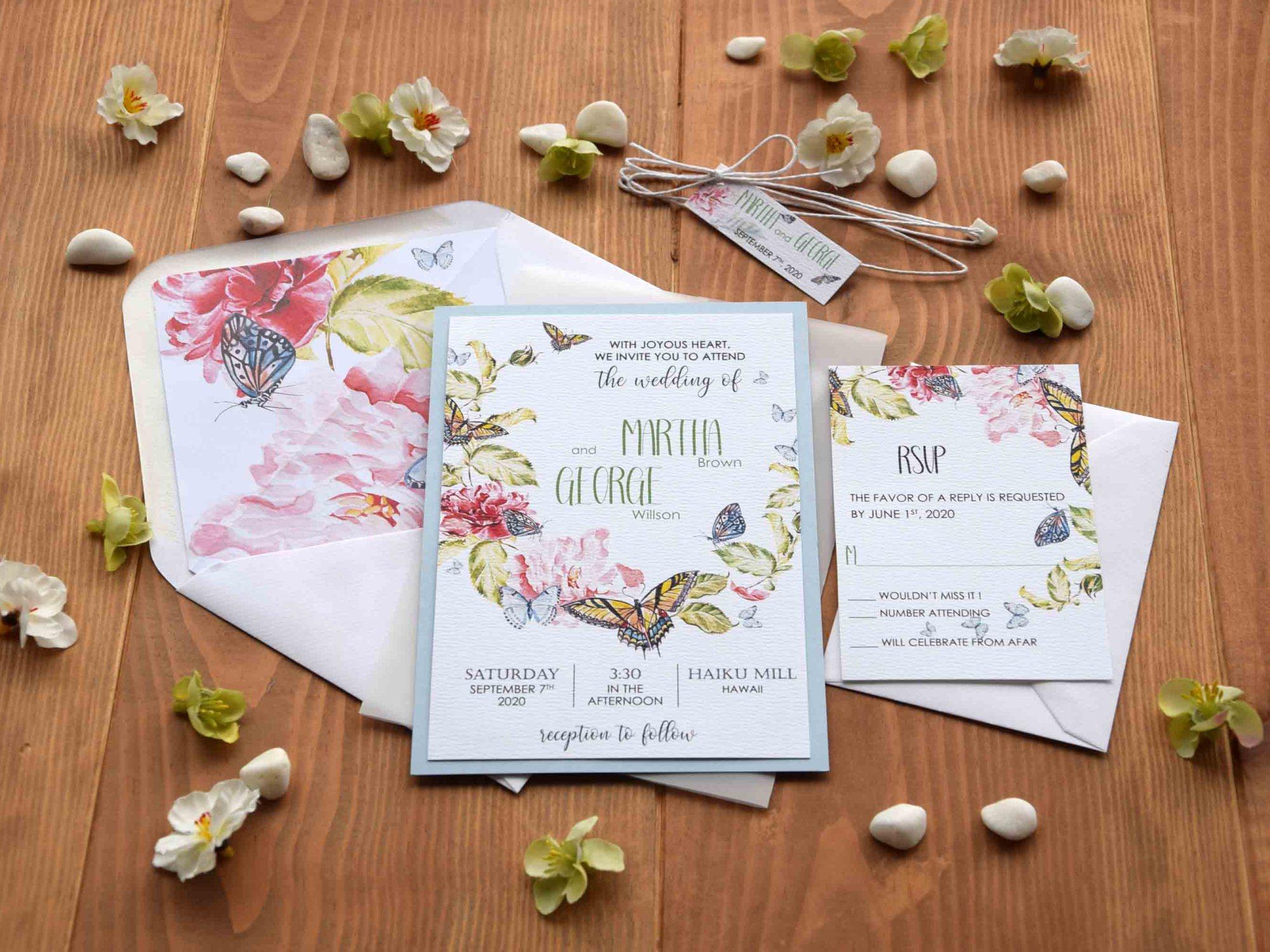 Butterfly Wedding Invitations