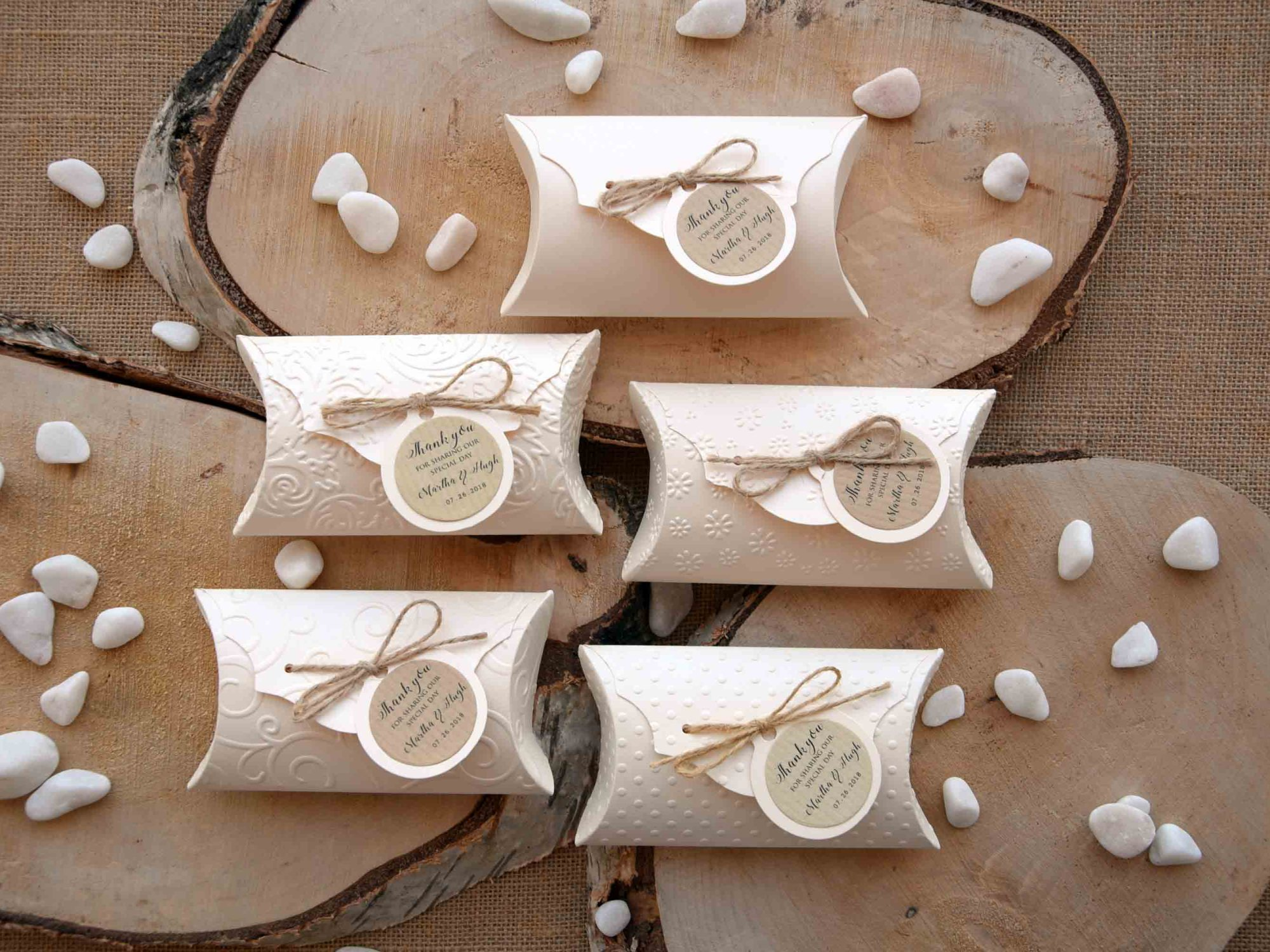 Unique Wedding Favor Pillow Boxes