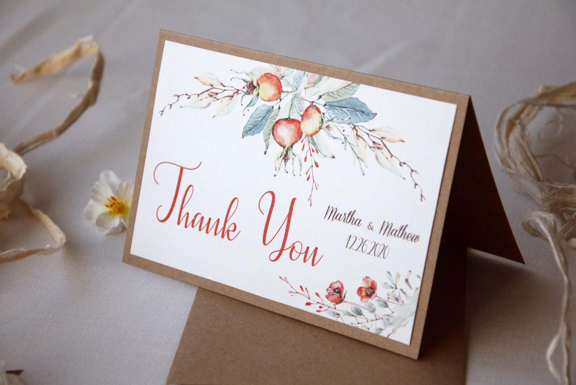 Affordable Weddings Leaves Bridal Shower Wedding Thank You Cards Thank You Cards Autumn Wedding Squirrels Fall Weddings Pumpkins