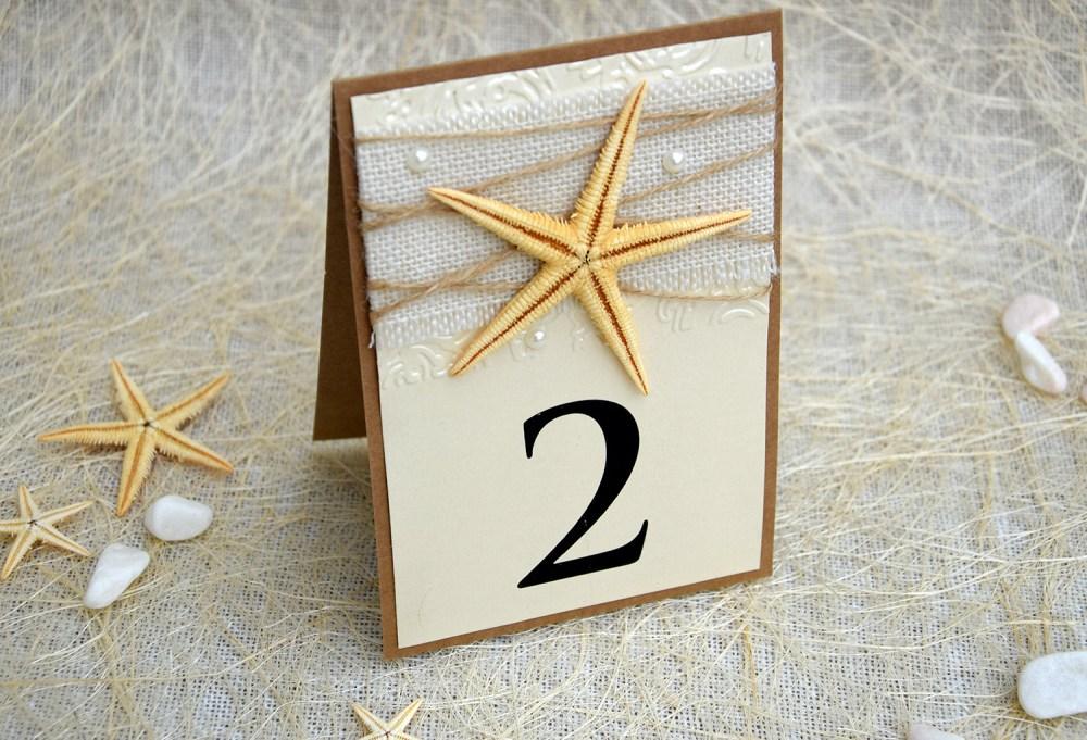 Starfish Wedding Table Numbers