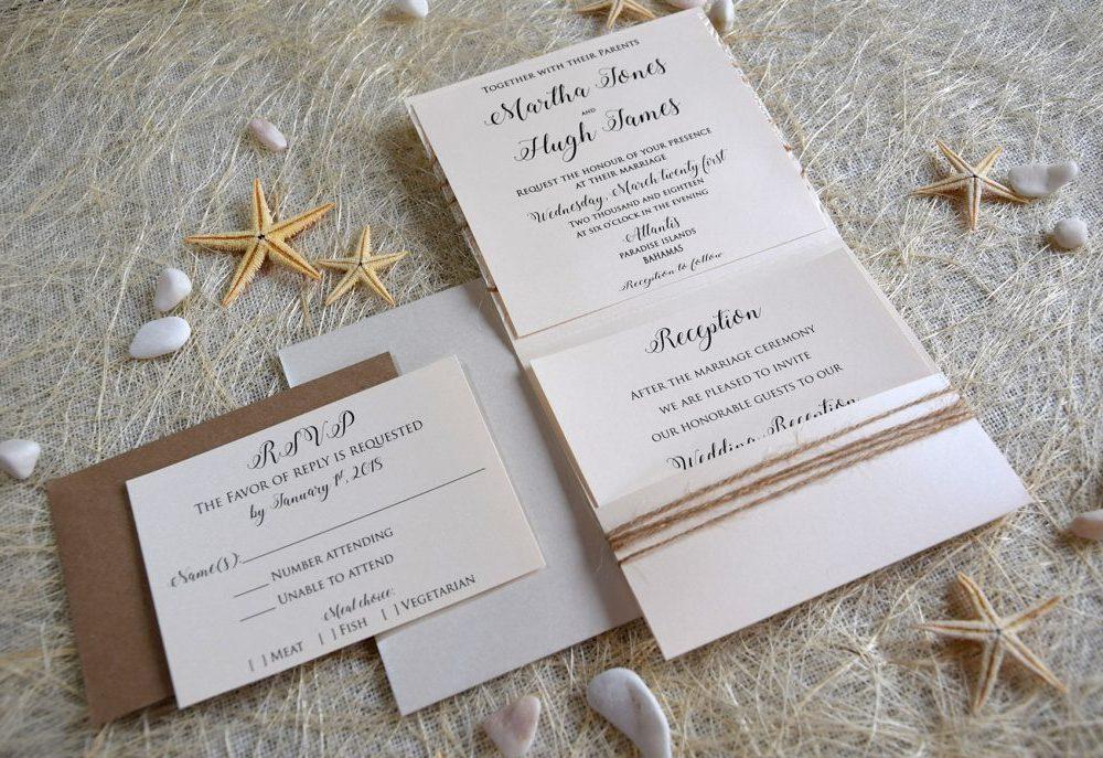 Luxury Pocketfold Wedding Invitation