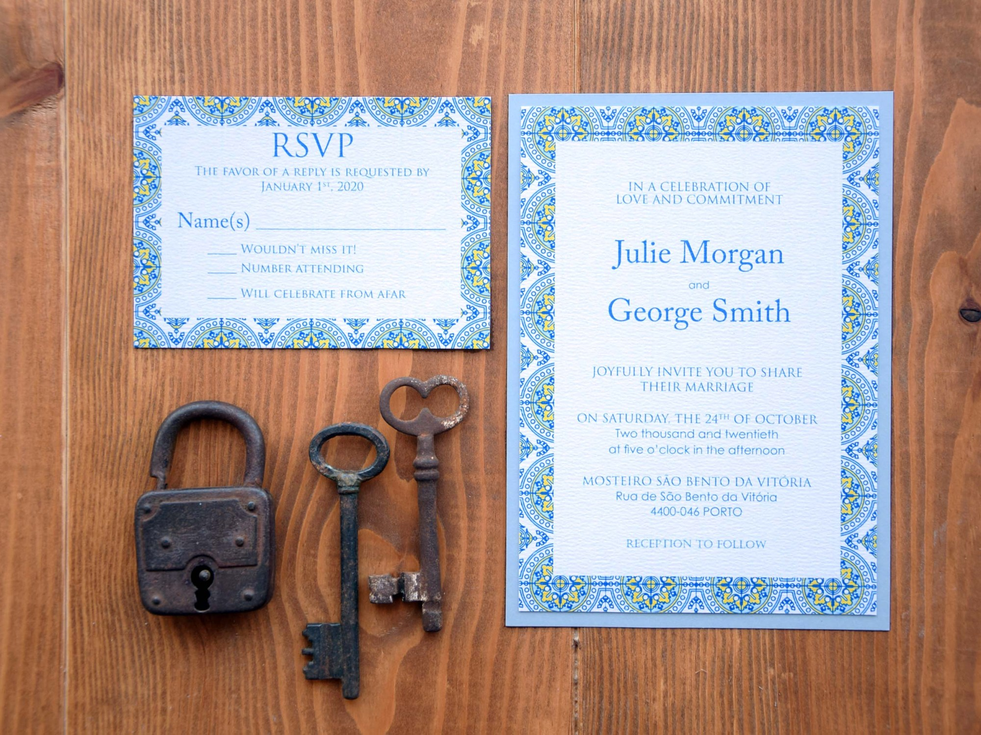 Custom Tile Wedding Invitations