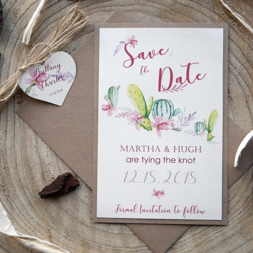Cactus Wedding Save The Dates