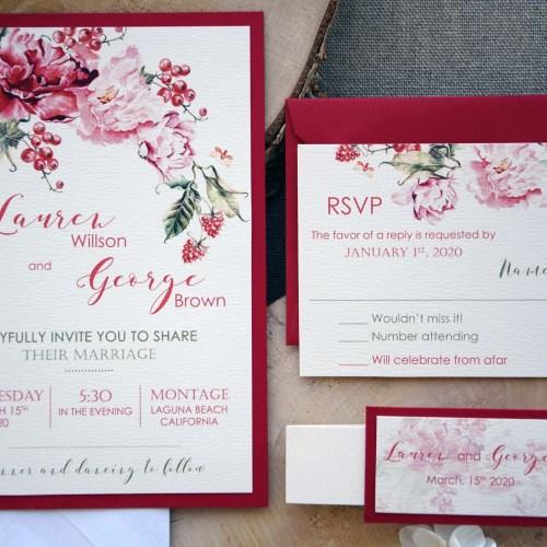 Colorful Customized Wedding Invitations Card