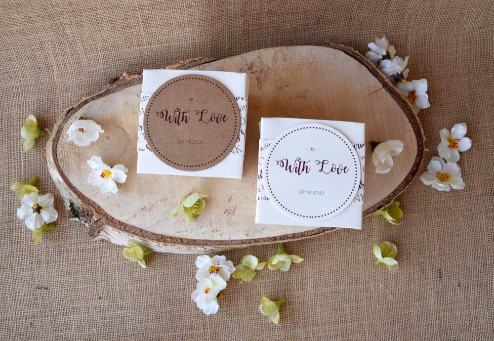 Personalized Square Wedding Favor Boxes