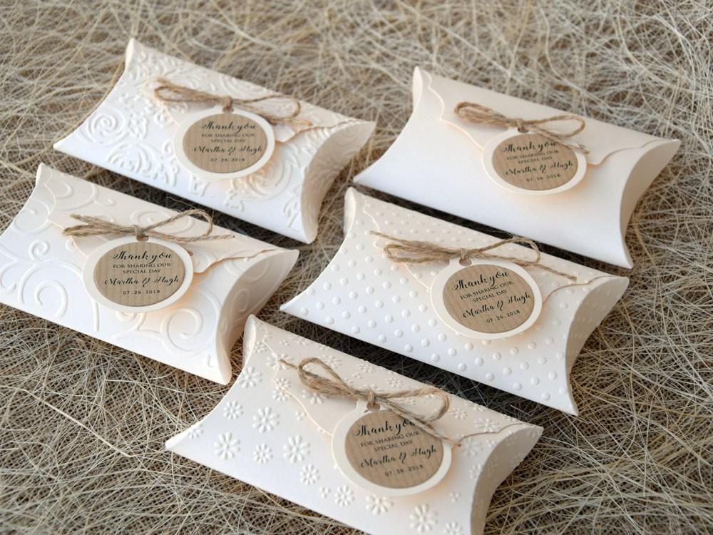 Unique Wedding Favor Pillow Boxes