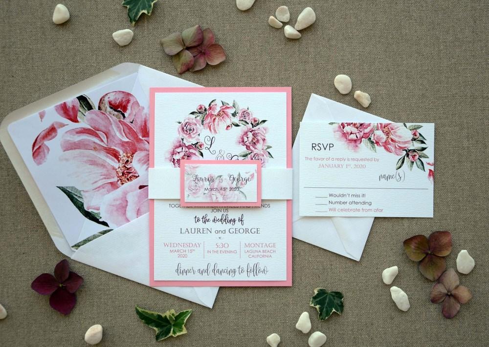Floral Garden Wedding Invitations