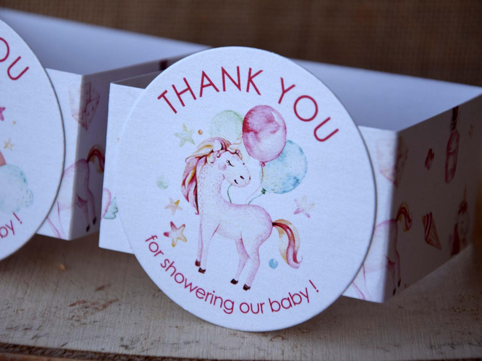 Unicorn Party Favor Boxes