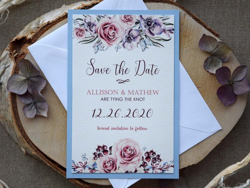 Watercolor Wedding Tie The Knot
