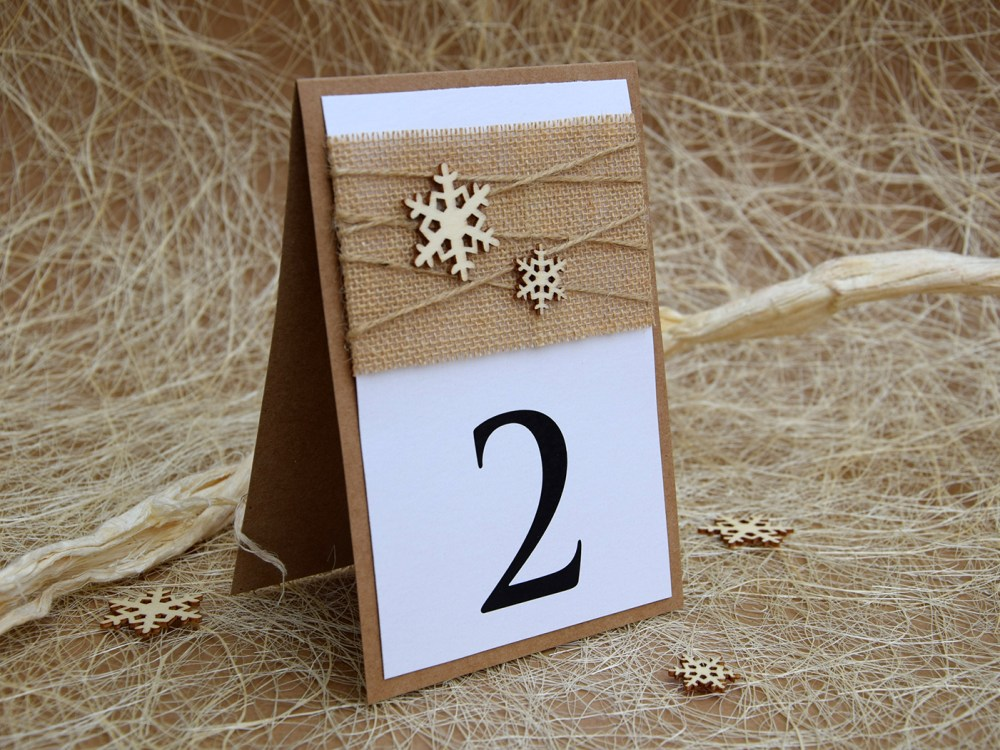 Winter Table Numbers
