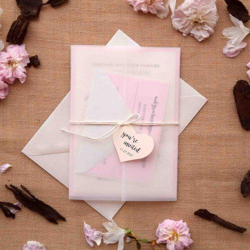 Romantic Pink Laser Cut Invitations