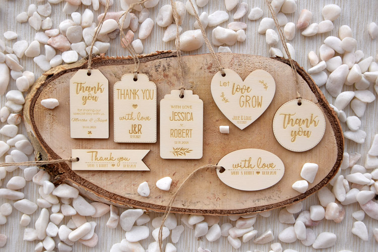 Wooden Favor Tags