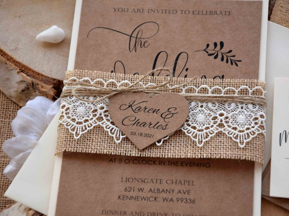 Rustic Country Wedding Invitation