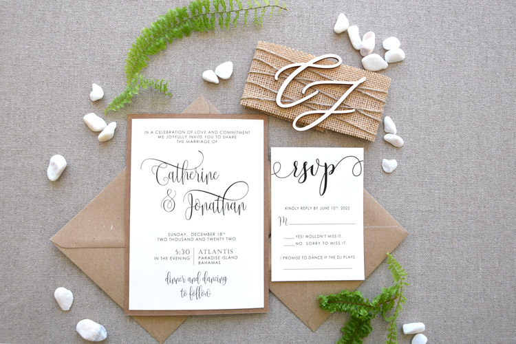RusticMonogramWeddingInvitationsLRW111A001