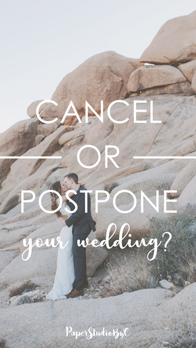 Cancel or portpone Your Wedding