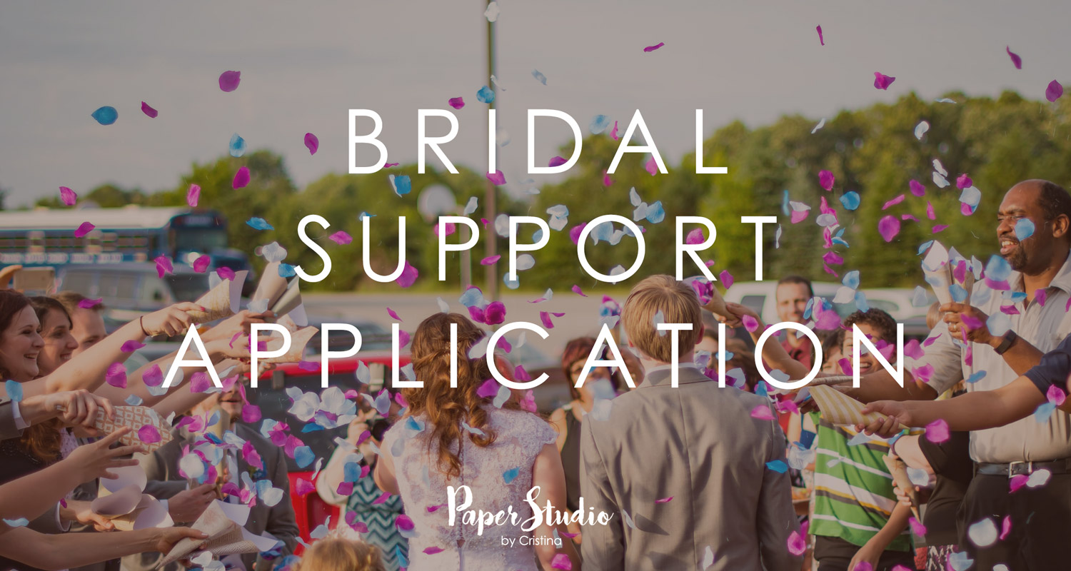 Bridal Support Application PaperStudioByC