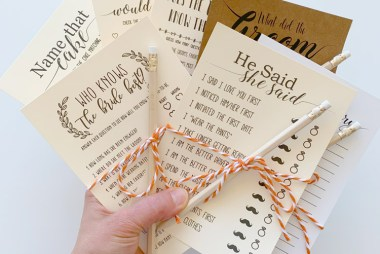 10 Free Bridal Shower Games to entertain your guests