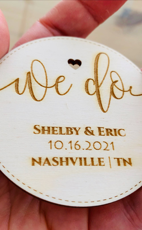 Laser Cutting Machine - Magnet Save the Dates - PaperStudioByC