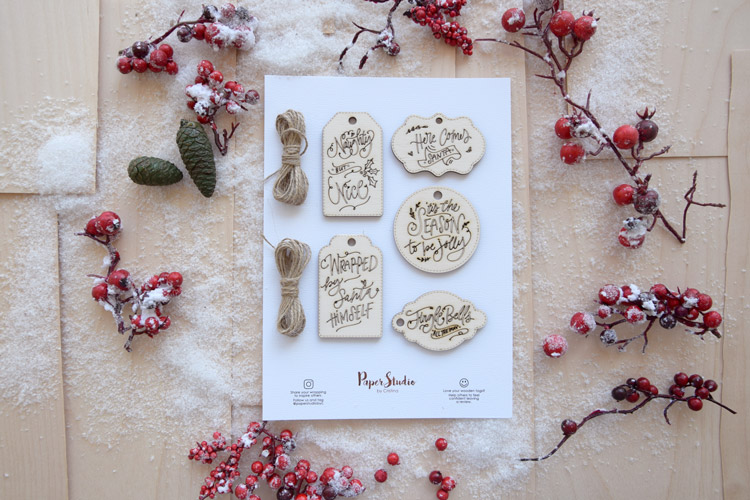 Laser-Cutting Wooden Christmas Gift Tags - Pack of 5 tags
