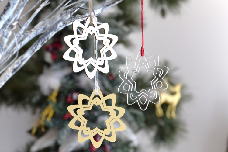 Five Pointed Stars Christmas Tree Ornaments
