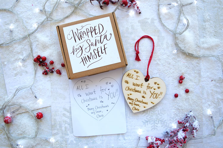 Heart Wooden Shape Personalized With Your Message or Drawing