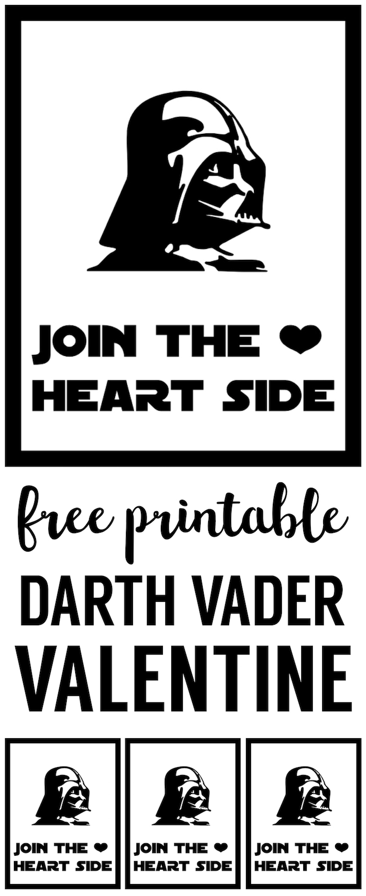 Star Wars Darth Vader Valentine Printable. This Free Star Ward Printable  Valentine Is Perfect DIY