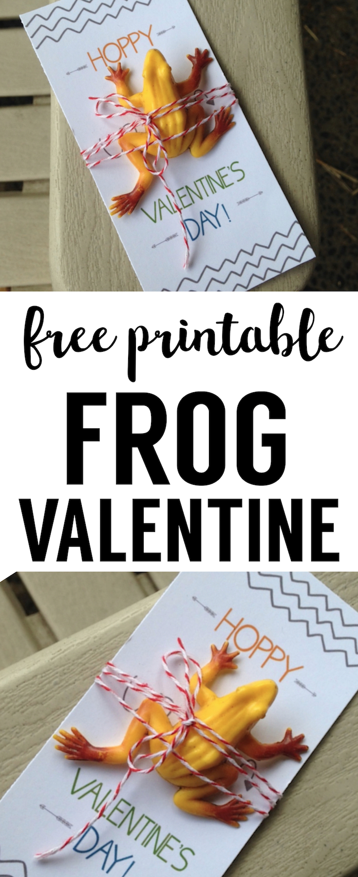 DIY Frog Valentine Printable Card. This frog valentine card is a perfect no candy valentine for kids valentine exchanges at school.